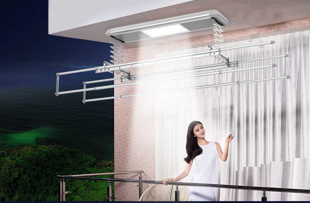 wall mounted indoor clothes drying rack